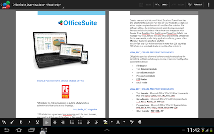 OfficeSuite 7 Pro (PDF&Fonts) Screenshot 1