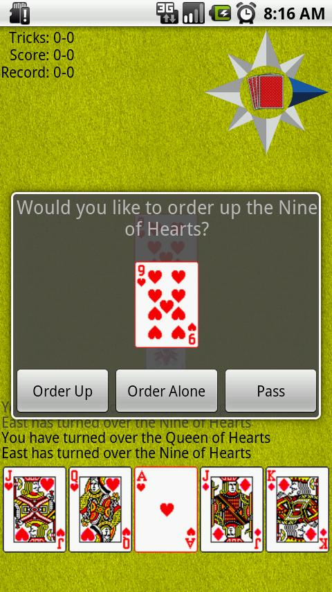 Euchre- screenshot