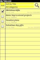Screenshot of My ToDo List