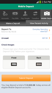 Citizens Bank Mobile Banking Screenshot 5