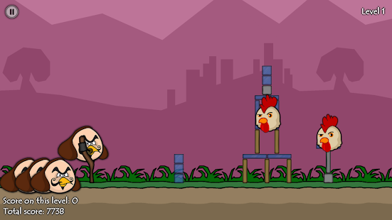 Angry Bards vs Chickens screenshot