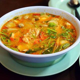 Luscious Coconut & Rice Noodle Soup. {Vegan, Gluten Free Recipe}.
