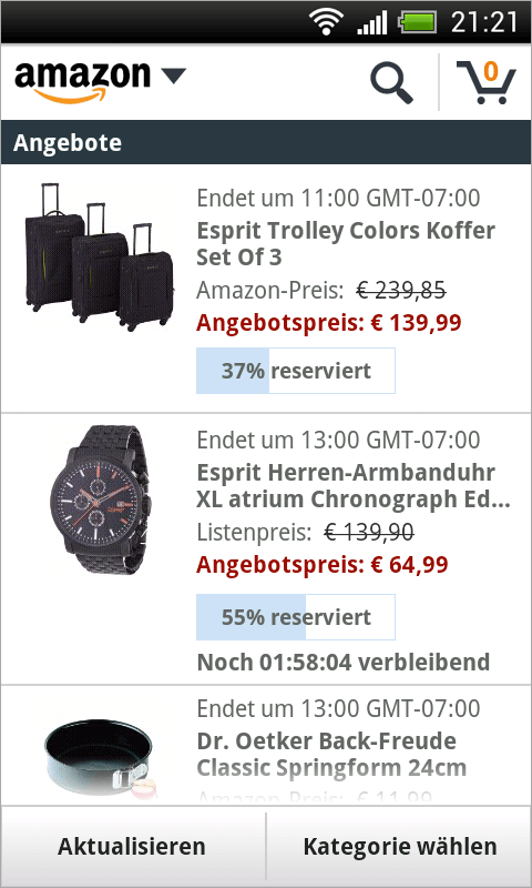 Amazon DE - screenshot