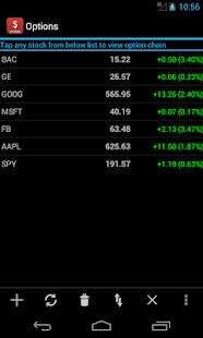 Stock index options quotes