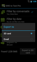 Screenshot of SMS to Text Pro