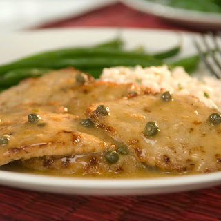 Veal Scaloppine With Lemon & Capers.