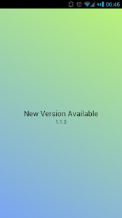 New Version Available - náhled