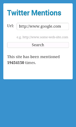 Website Mentions for Twitter