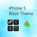 iPhone 5 Black Go Launcher EX logo