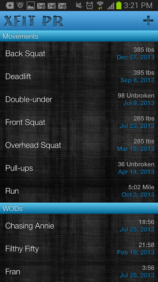 XFit PR - screenshot