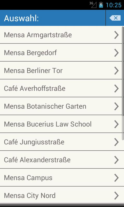 Mensa Hamburg - screenshot