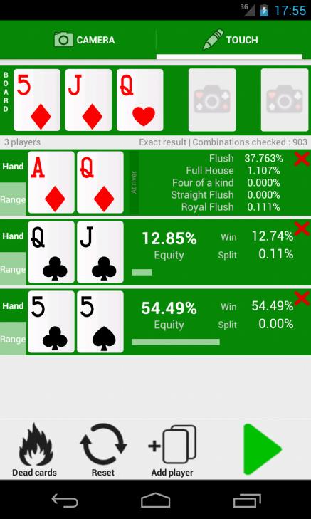Blackjack odds calculator app