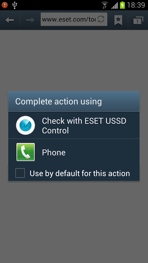 ESET USSD Control- screenshot