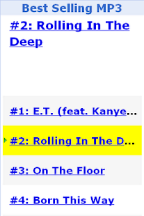 Best Selling MP3 - screenshot thumbnail