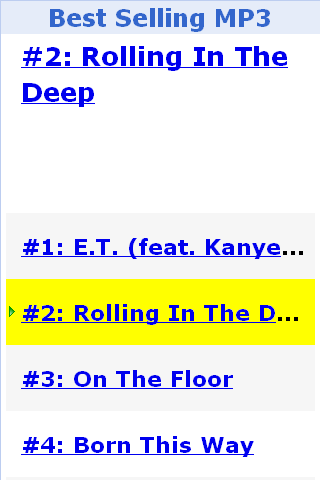 Best Selling MP3 - screenshot