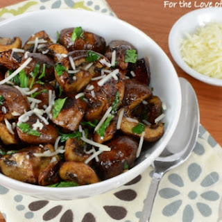 Roasted Mushrooms with Balsamic and Garlic.