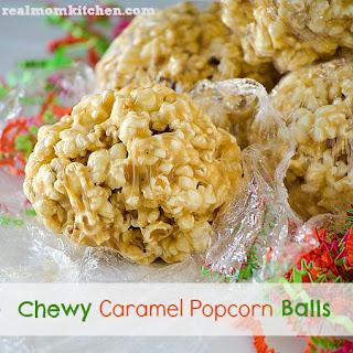 Chewy Caramel Popcorn Balls