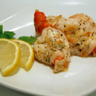 Broiled Lemon & Garlic Shrimp.