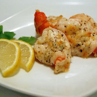 Broiled Lemon & Garlic Shrimp.