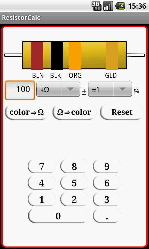 Resistor Calc - screenshot