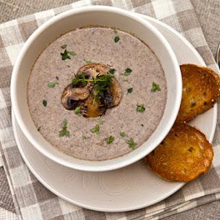Creamy Roasted Mushroom Soup.
