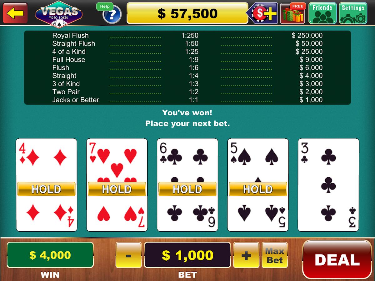 Category/virtual Poker for kids