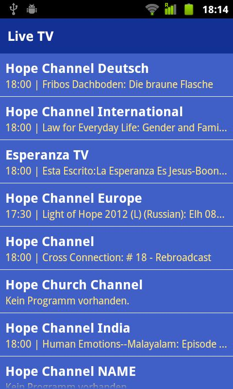 Hope Channel- screenshot