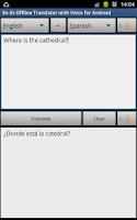 Screenshot of Offline Translator Spanish