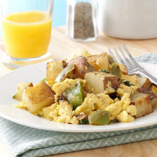 Potato Basil Scramble