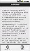 Screenshot of Calcular letra del NIF o NIE