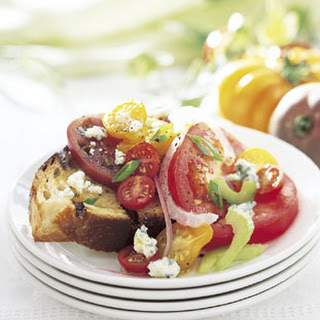Heirloom Tomato Salad with Blue Cheese.