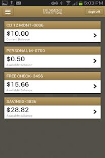Drummond Community Bank Mobile - screenshot thumbnail