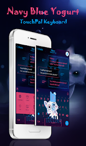 TouchPal Yogurt Blue Theme screenshot 0