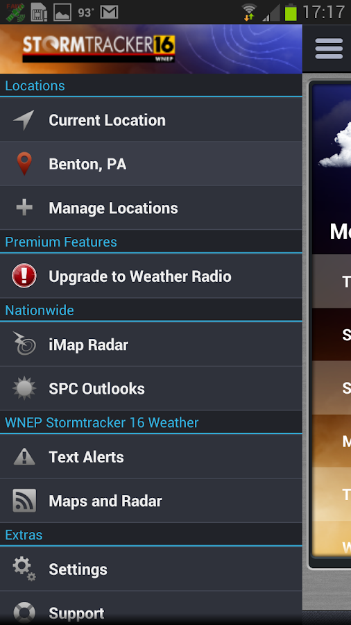 WNEP Stormtracker 16 Weather - screenshot