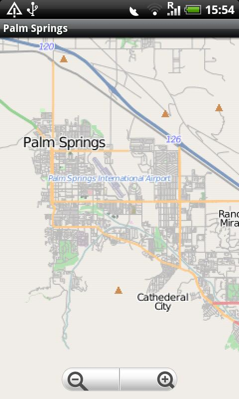 Palm Springs Street Map