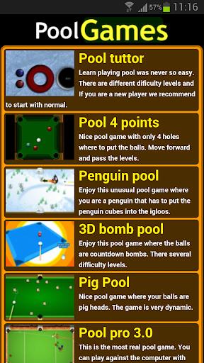 Pool games