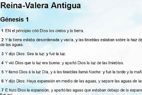 Biblia Reina Valera Antigua- screenshot thumbnail