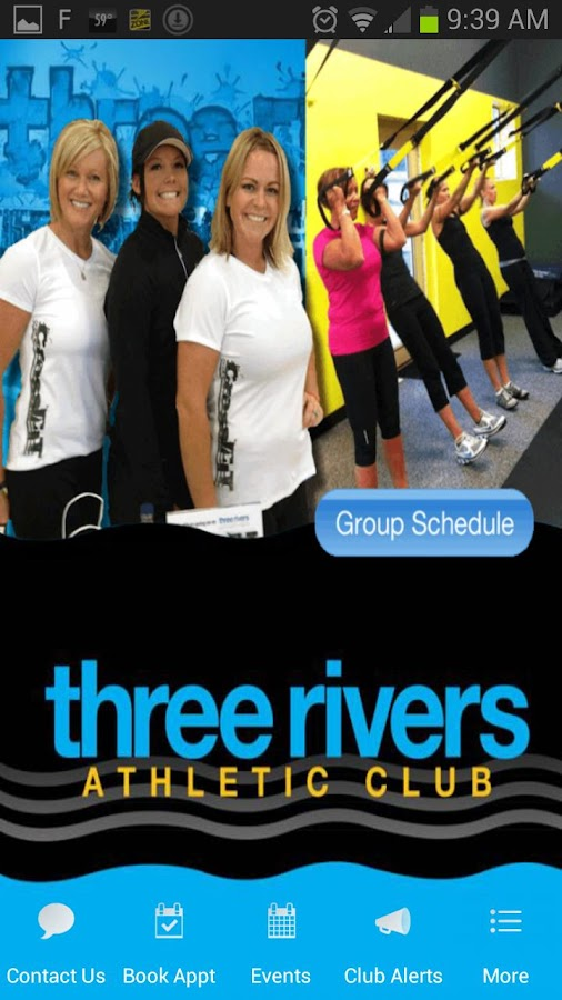 Three Rivers Athletic Club WA - screenshot