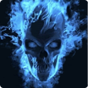 Blu Flame Skull Live Wallpaper icon