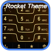 RocketDial Razr Gold Theme