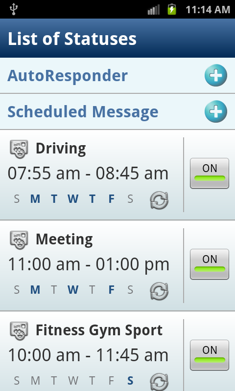SMS Autoresponder + Scheduler - screenshot