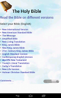 Screenshot of Bibles Popular Selection