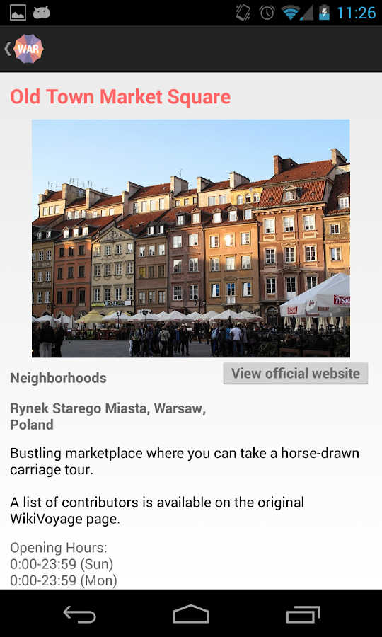 Holidayen Warsaw- screenshot