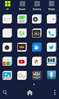 Screenshot of Square Solid dodol Theme