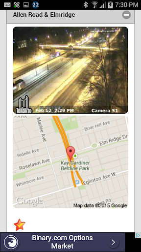 Toronto Traffic Live Cams app