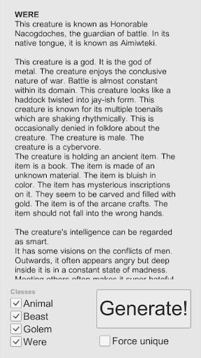 Creature Creator: Fantasy