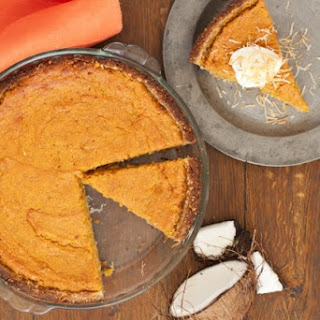 Persimmon-Pumpkin Pie with Coconut Crust