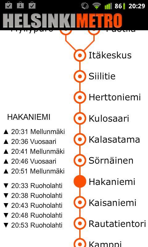 Helsinki Metro Map- screenshot