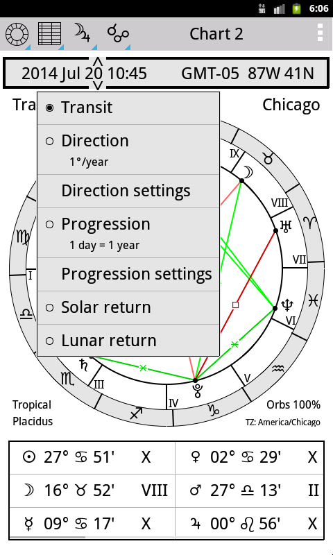 AstroVizor Astrology - screenshot