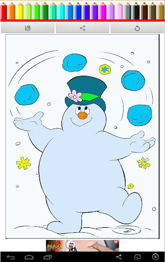 Coloring Book My Snowman